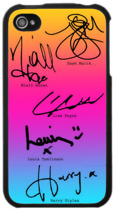 The 1D Signature Iphone Cases   fresh-tops.com on Wanelo