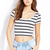 Off Duty Striped Crop Top | FOREVER 21 - 2000127616