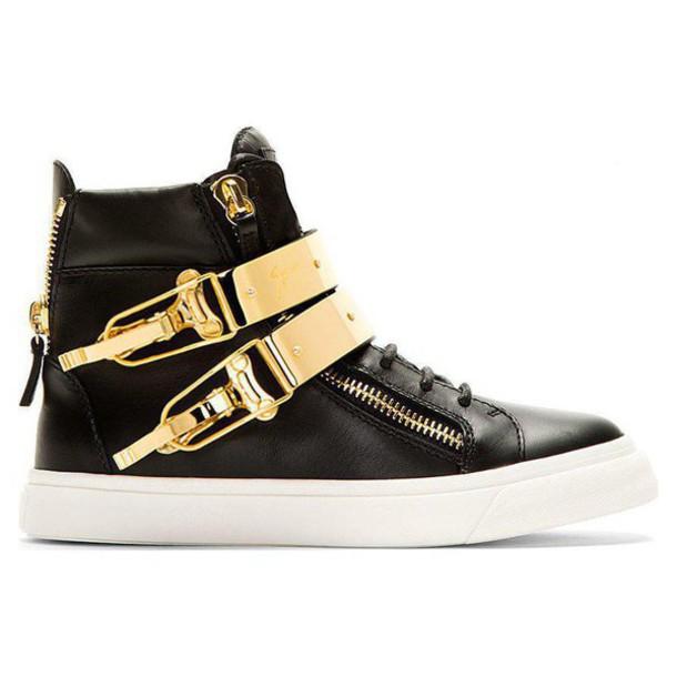 shoes giuseppe zanotti Giuseppe Zanotti shoes Giuseppe Zanotti high-top sneakers high top sneakers sneakers high tops unisex dope kicks gold buckle