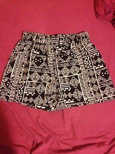 Love Culture High Waist Black White Tribal Print Shorts   eBay