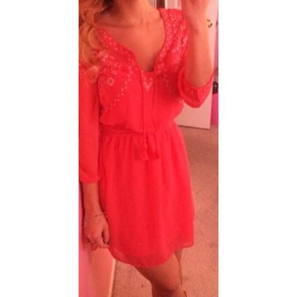 dress pink style fashion