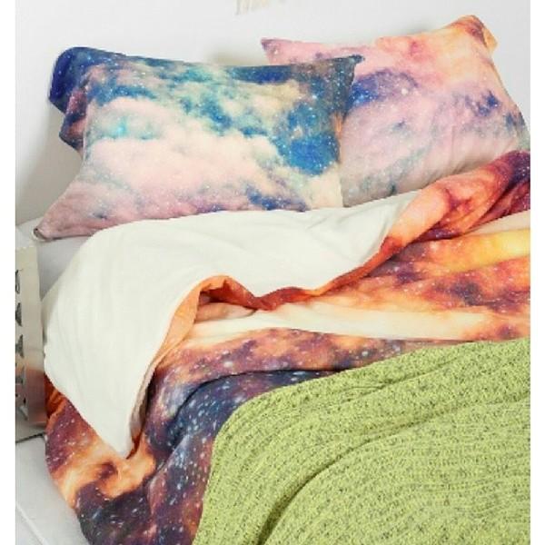 blanket blankets galaxy print space stars nebula bedding shoes