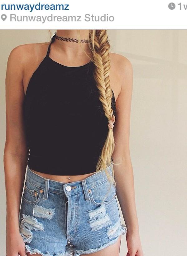t-shirt fashion top shorts black white cool trendy trend pll jewels