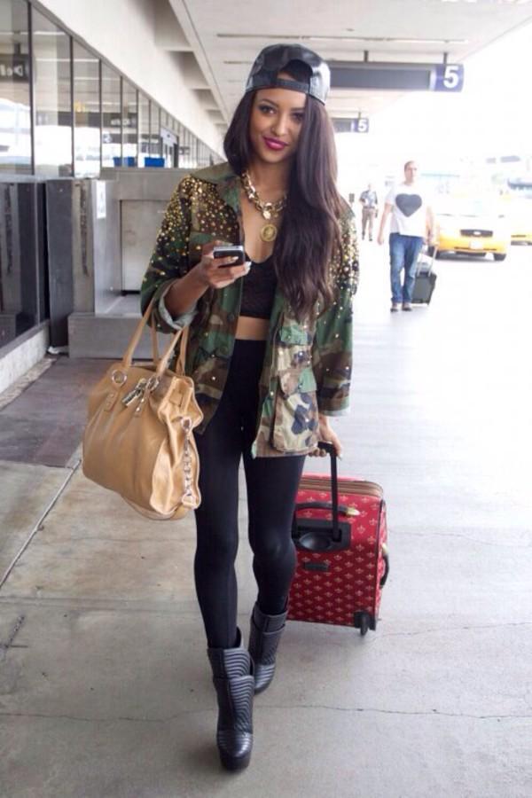 jacket leggings top shoes