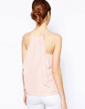 ASOS Tall | ASOS TALL Exclusive Drape Back Cami Top With Strap Detail at ASOS