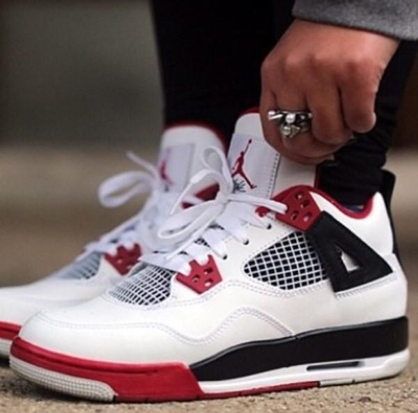 shoes air jordan jordans nike sneakers red white black women women trendy like perfection