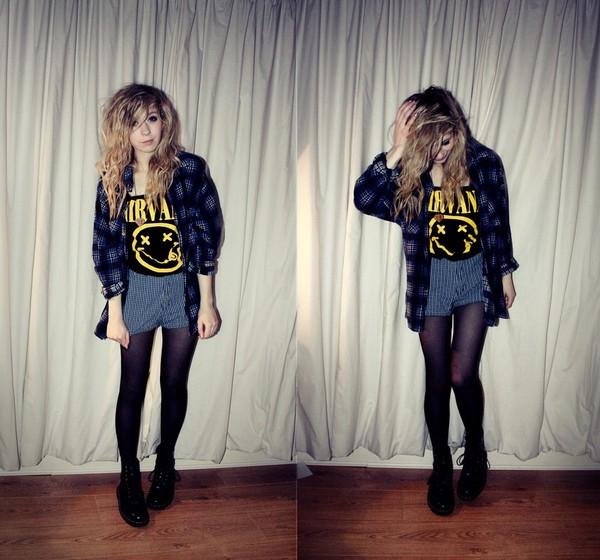 shirt clothes nirvana shorts blouse