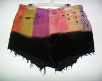 Popular items for dip dye shorts on Etsy