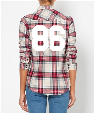 CHECK FLANNEL 86 SHIRT   Shirts   Tops   Clothing   Shop Womens   General Pants Online