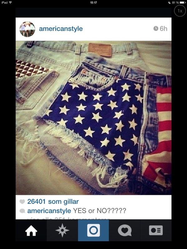 shorts american flag shorts denim