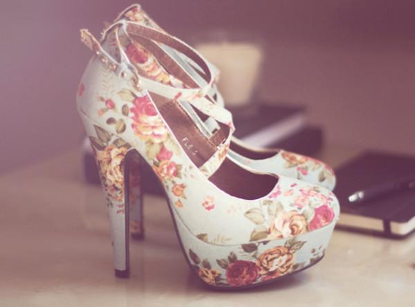 shoes flowerhighheels high heels
