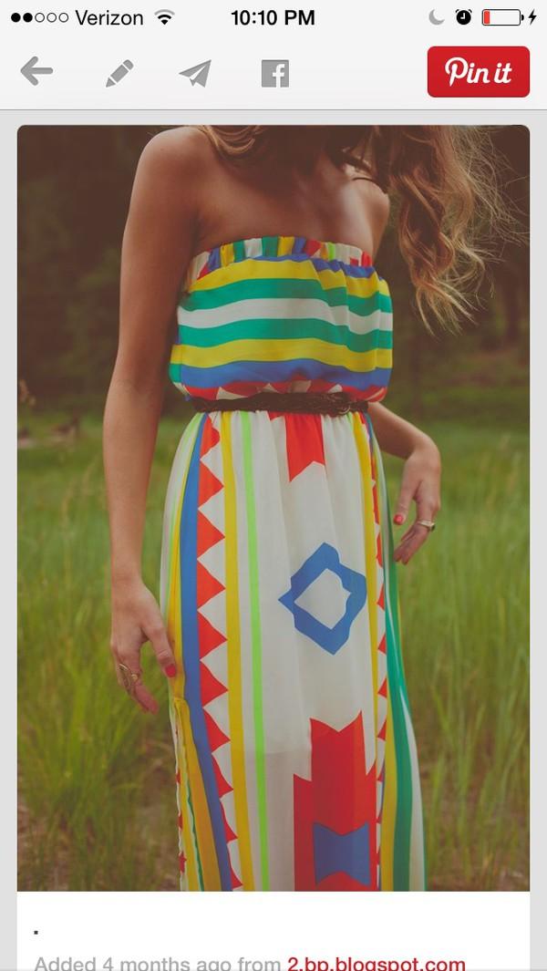 dress summer dress maxi dress summer colorful
