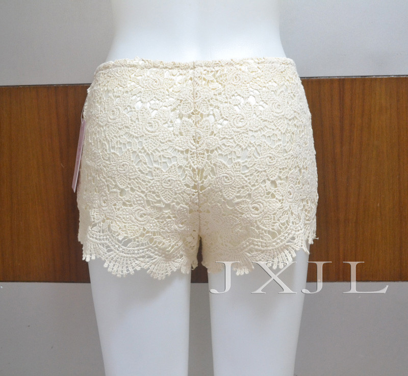 Vintage Summer Gorgeous Womens Sexy Crochet Lace Shorts Hot Pants Elastic Waist-in Shorts from Apparel & Accessories on Aliexpress.com