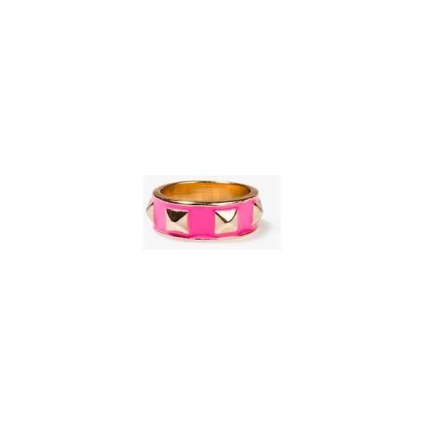FOREVER 21 Lacquered Pyramid Stud Ring - Polyvore
