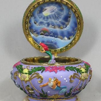 Disney The Little Mermaid Ariel Music Box Princess 3D Round PURPLE RARE Jewelry on Wanelo