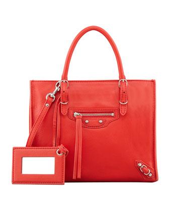 Balenciaga Papier A4 Mini Magnet Tote Bag, Red - Neiman Marcus