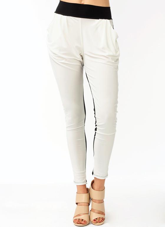 Two Tone Slouchy Hip Pockets High Waist Harem Soft Leggings Jogger Pants S14 | eBay