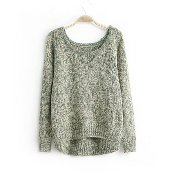 sweater pure color knit