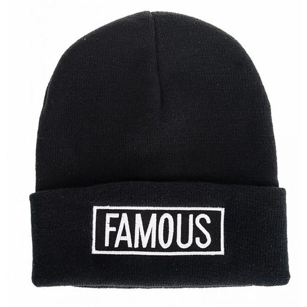 Black Famous Beanie Hat - Quiz - Polyvore