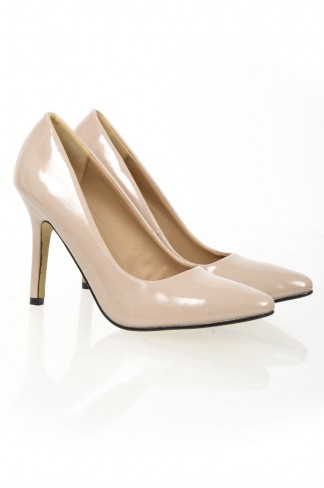 Nude Pointy Toe Court Shoe
