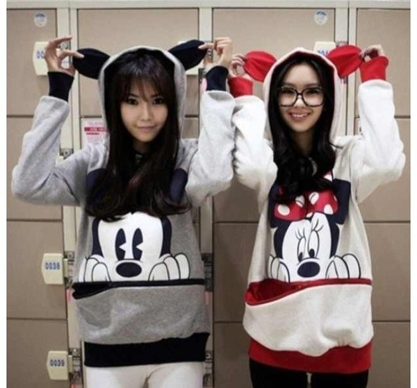 sweater mickey mouse minnie mouse bff cute cute sweaters ears red black twins
