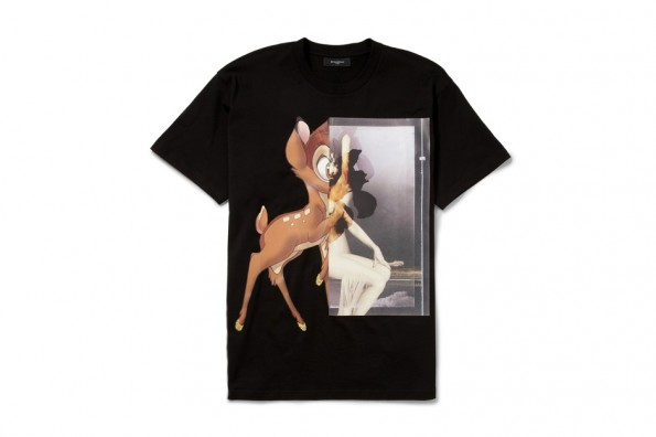 $565 Black Bambi Print T-Shirt by Givenchy - Refined Guy