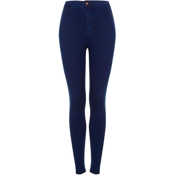 TOPSHOP MOTO Hyper Blue Joni Jeans - Polyvore