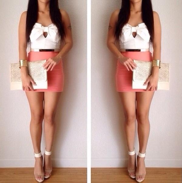 belt shirt skirt