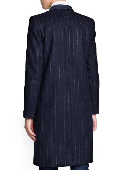 MANGO - NEW - Pinstripe wool-blend coat