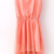 Pink Sequined Shoulder Sleeveless Dipped Hem Dress - do-a-fashion.com