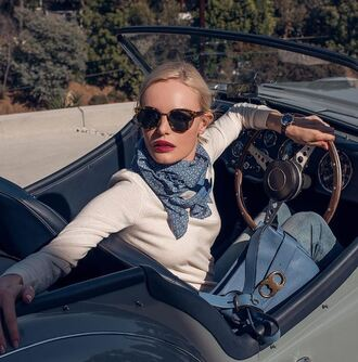 bag kate bosworth instagram top scarf sweater