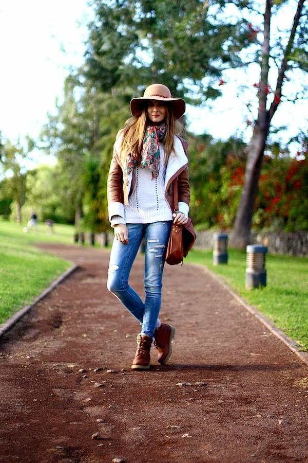 marilyn's closet blog jacket hat jeans shoes bag