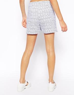 ASOS   ASOS Reclaimed Vintage Shorts In Stripe at ASOS