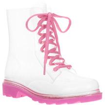 Girls Clear Lace up Moto Rainboot: Shoes : Walmart.com