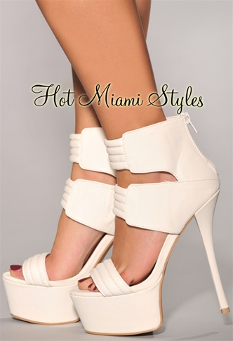 White Straps High Heel Sandals