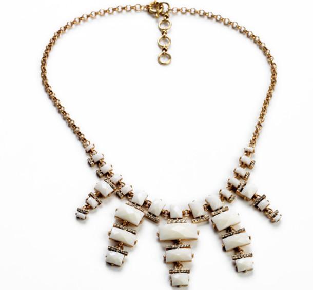 jewels jewelry jewelry necklace statement necklace white necklace bib necklaces