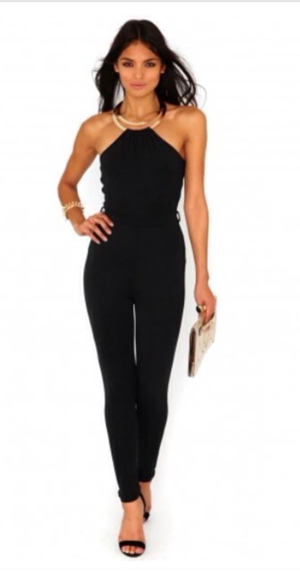 jeans jumpsuit black sexy classy