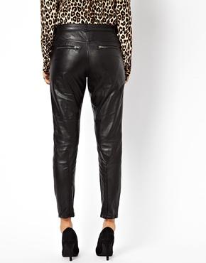 Muubaa | MuuBaa Kirin Leather Trousers with Ankle Zips at ASOS