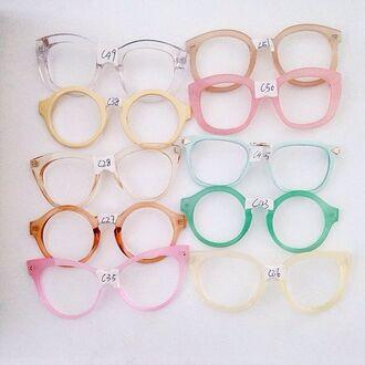 jewels glasses eye glasses round sunglasses mint yellow glasses frames eyeglasses hippie glasses