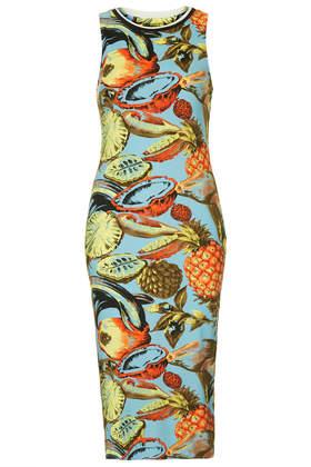 Island Fruit Print Bodycon Tank Dress - Topshop USA