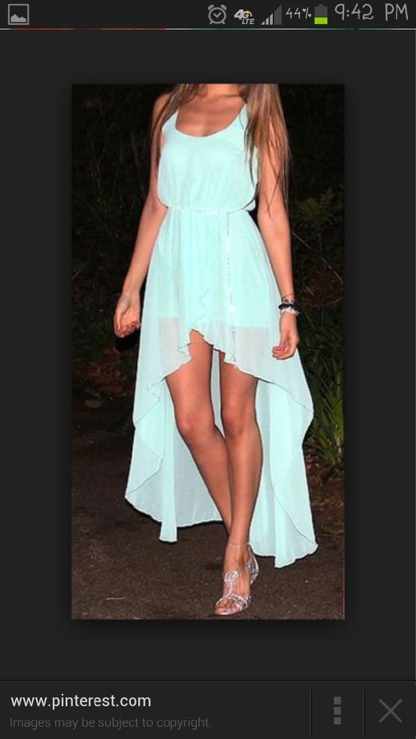 high-low dresses bridesmaid light blue bridesmaid dress