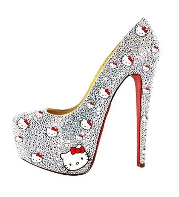 shoes hello kitty high heels