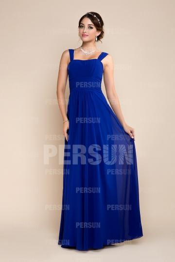 Empire Strap Sleeveless Pleats Blue tone Bridesmaid dress [ZHY248]- US$ 135.99 - PersunMall.com