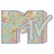 """""""mtv logo (pastel floral)"""
