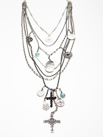 Free People  Multi Charm Rosary at Free People Clothing Boutique