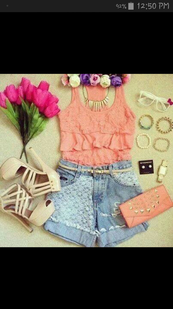 blouse hair accessory jeans