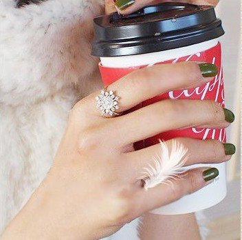 Snowflakes ring.Fashion jewelry.Cheap accessories.Zircon.Alloys.Imitation diamond.Women's.Free shipping.30 pcs/lot.New-in Rings from Jewelry on Aliexpress.com