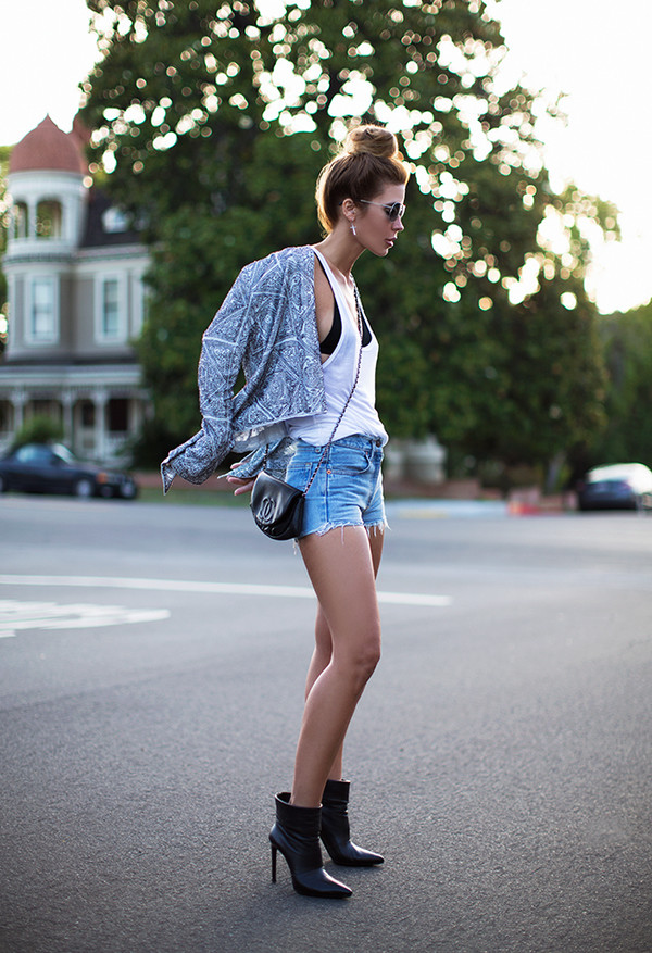 sunglasses bag jacket shoes