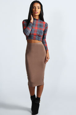 Mindy Midi Skirt at boohoo.com
