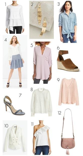pennypincherfashion blogger sweater jewels shirt skirt shoes top jacket bag wedges blue shirt blazer pink sweater earrings sandals shoulder bag